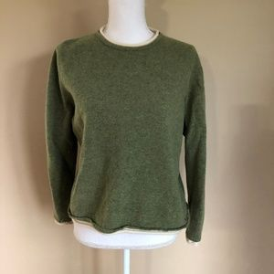 Woolrich | Olive Wool Crewneck Sweater  XL